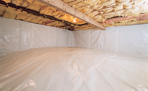 Crawl Space Moisture Barrier After in Summerville
