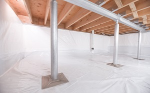 Crawl space structural support jacks installed in Ravenel