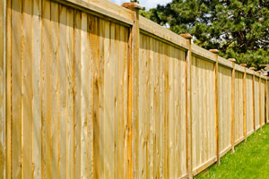 Privacy fence installation in Charleston