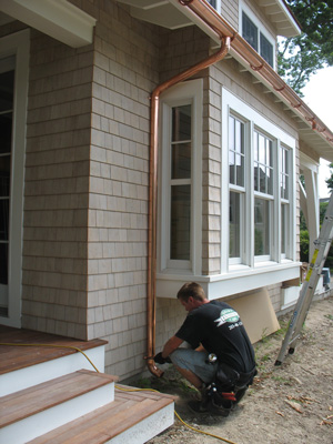 New Age Contractors can install copper gutters in Charleston, SC