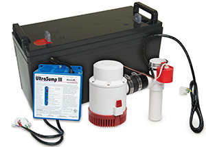 a battery backup sump pump system in Orangeburg
