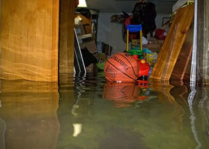 Flooded basement in Charleston